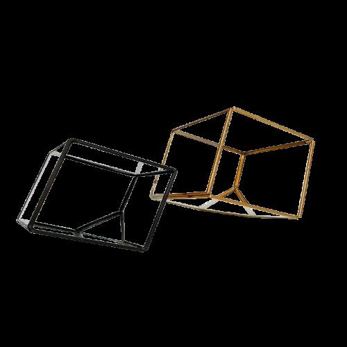 Angular Metal Frame Glass